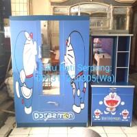Lemari 3 Pintu Karakter Doraemon+Meja Rias Doraemon- 1 Set Promo Murah