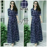 Dress Wanita Long Dress Clote Navy Tathe.657 CB