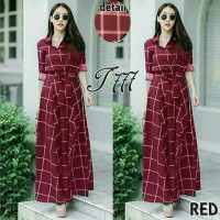 Dress Wanita Long Dress Clote Maroon Tathe.657 CB