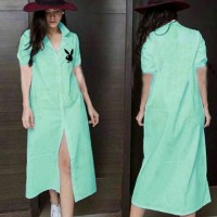 Maxi Dress Long dress Play boy Bordier Mint Tali.1056