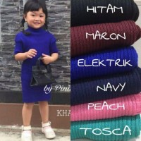 Midi Dress anak Kids rajut Tali.1057