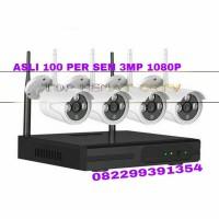 Paket 4 IP Kamera CCTV Wireless Outdoor HD 3MP Tahan Ari Praktis