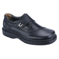 Sepatu Formal kantor pantofel Pria kulit hitam Catenzo RI 095 asli