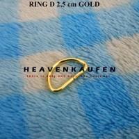 Ring D 2.5 cm Gold Emas Murah Eceran Grosir
