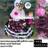 Grosir Baju Hijab Gamis Anak Zara Kids Maroon Pink P