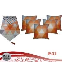 Paket Taplak Meja dan Set Sarung Bantal Sofa Motif Minimalis