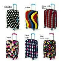 Cover sarung pelindung koper tas jalan travelstuff bahan kain elastis