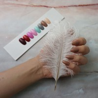 24 Tips Colored Coffin Fake Nails / Kuku Palsu Warna