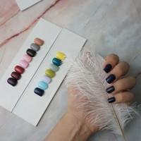 24 Tips Short Square Fake Nails / Kuku Palsu Warna untuk 2 tangan