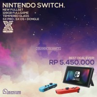 SUPER BEST DEAL Nintendo Switch + 128GB + SX OS free isi game FULL