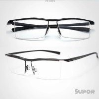 Kacamata Half frame Titanium + Lensa Essilor crizal Alize Optifog c2e8b10efa