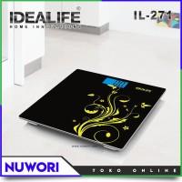 Digital Bathroom Scale Glass Type Idealife IL-271 Timbangan Badan