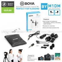 BOYA BY-M1DM Dual Clip On Microphone Vlogging for Smartphone & Camera
