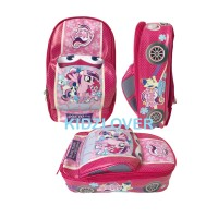 Tas Ransel Sekolah Anak PAUD TK Bentuk Mobil Little Pony - 3D