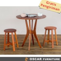 Oscar Furniture - Dining Set Fogia - 1 Meja Makan Fogia & 4 Bangku
