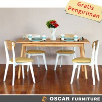 Oscar Furniture - Dining Set Catania 150, 1 Meja Makan & 4 Kursi Makan