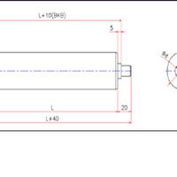 Steel Gravity Roller D34 W500 (tebal pipa 2.5mm)
