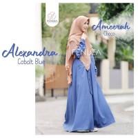 Gamis New Alexandra Dress COBALT BLUE By Fenuza Muslim Wear (GAMIS ONL