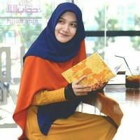 Khimar Maxi Orange Dongker Hijab Alila
