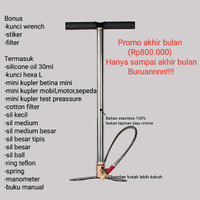 hand, pump, pompa, pcp, paint ball,airsoft, filter dalam, silver