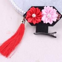 Aksesoris Fashion Rambut Anak Jepit Rambut / Hair Clip CNY Merah PinkI