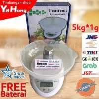 Timbangan digital mangkok 5kg electronic kitchen scale B-05