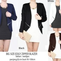 Edgy Zipper Blazer