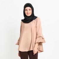 Hijab Ellysha BALLERINA RUFFLE BLOUSE MOCCA