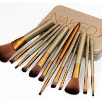 Top NAKED 3 Brush Set Kit isi 12 - Kuas Make Up Brush Naked 3
