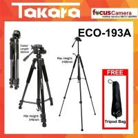 Tripod Takara ECO-193A For Kamera Mirroless DSLR Nikon Canon Sony Fuji