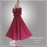 Gaun syar'i polos/gamis polos/dress muslim