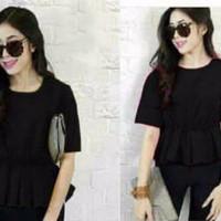 [Blouse Lamoda Hitam SW] blouse wanita rayon bangkok hitam