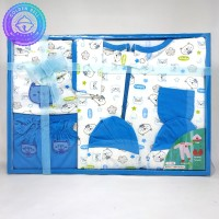 Paket Jumpsuit Bayi Baru Lahir / Jumper / Gift Set Baby Newborn Biru