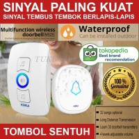 Door Bell Wireless Waterproof bel pintu pagar rumah tanpa kabel