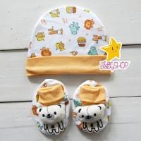 Topi Bayi Kaos Kaki Bayi Sepatu Bayi Set Newborn Unisex