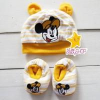 Topi Bayi Kaos Kaki Bayi Sepatu Bayi Set Newborn Topi Bayi Kaos Kaki
