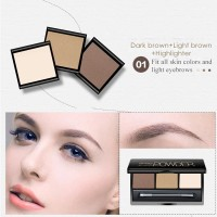 BIOAQUA 3 Warna Eyebrow Powder Profesional