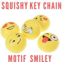 Mainan Anak Squishy KeyChain motif Smiley