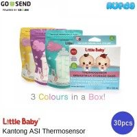 Little Baby Kantong ASI Thermosensor Breastmilk Storage Bags BPA Free