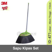 Scotch Brite ID 471 ID471 Sapu Nylon Kipas Set