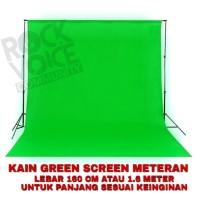 Kain Greenscreen Hijau stabilo bahan spunbond