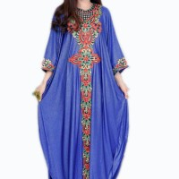 SARA Okechuku Pakaian Gamis Wanita Maxi Dress Maksi Busana Muslim