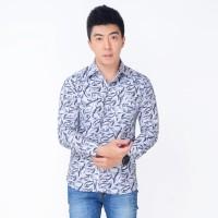 YUNO Okechuku Kemeja Pria Strech Lengan Panjang Fashion Pria Terbaru