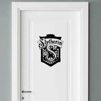 Sticker Dinding Rumah Pintu Slytherin Harry Potter