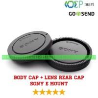 Body cap & Lens Rear Cap Cover Sony NEX Alpha E-Mount tutup body lensa