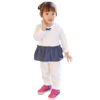 Elsa Sleepwear Denim Mosfit Setelan Baju Anak Perempuan