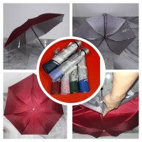 Payung Lipat 3 Polos Super Murah Kuat Kokoh Anti Angin C3 ANTI UV