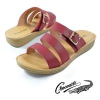 LR-3105-13 Sandal Wanita Women Shoes Crocodile Original - Merah