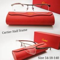 ( TERLARIS ) Kacamata Cartier Half frame kayu asli kualitas pr Special