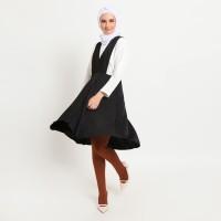 Hijab Ellysha MOMO OVERALL MINIMI BLACK WITH LEGGING WUDHU